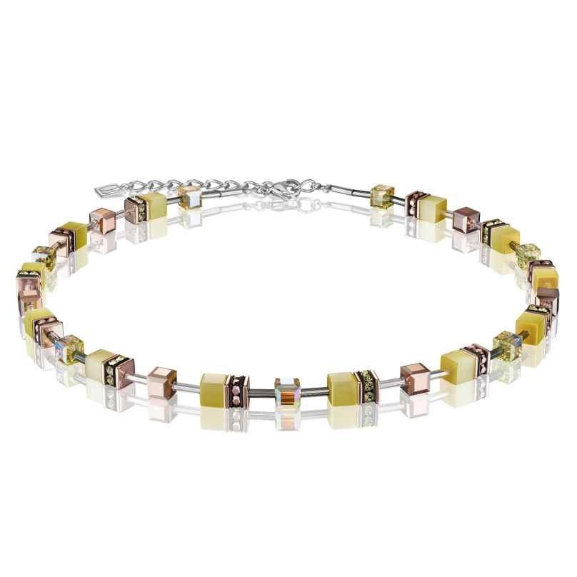 Coeur de Lion 4016/10-0120 Damen-Halskette GeoCUBE Hellgelb 4251588309320