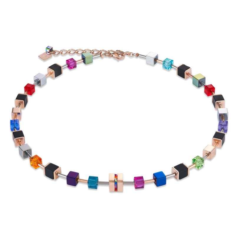 Coeur de Lion 4980/10-1500 Damen-Halskette GeoCUBE Multicolor 4251588306534