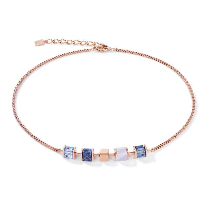 Coeur de Lion 5052/10-0700 Damen-Kette Edelstahl roségold / blau 4251588312870