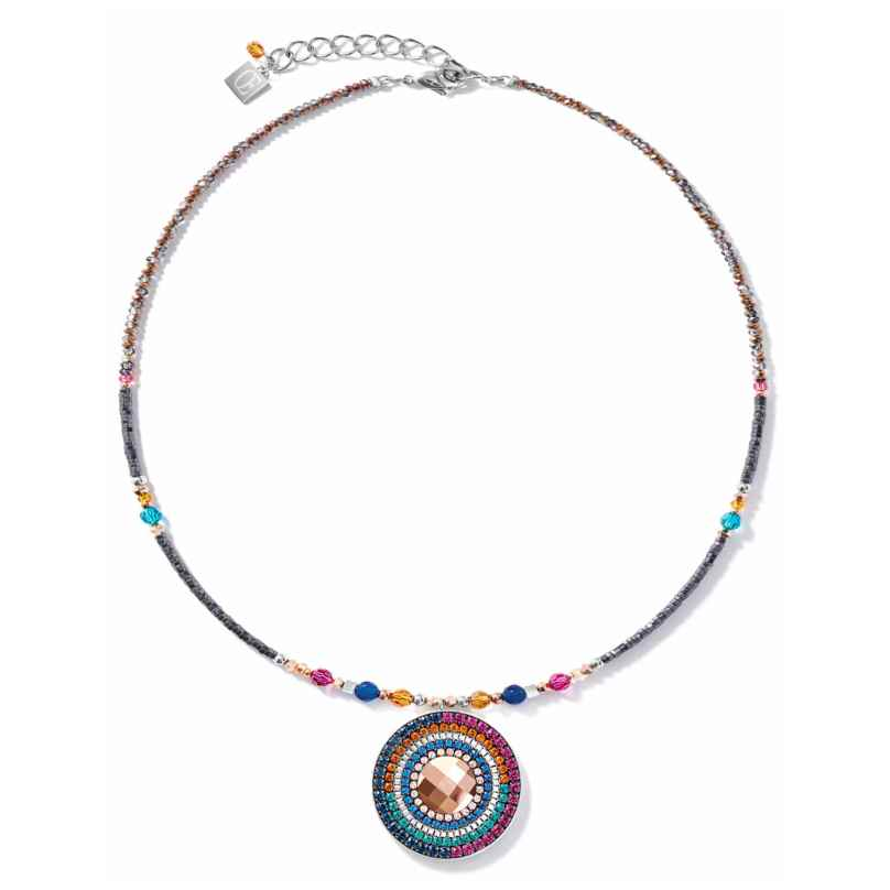Coeur de Lion 5035/10-1579 Damen-Kette Amulett Kristalle & Achat multicolor Ethno 4251588317714
