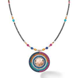 Coeur de Lion 5035/10-1579 Damen-Kette Amulett Kristalle & Achat multicolor Ethno