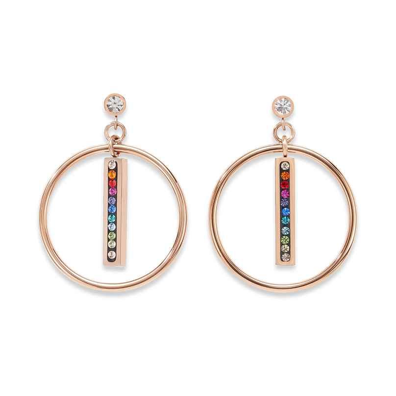 Coeur de Lion 5001/21-1500 Damen-Ohrringe Ohrhänger Multicolor Edelstahl roségold 4251588309900