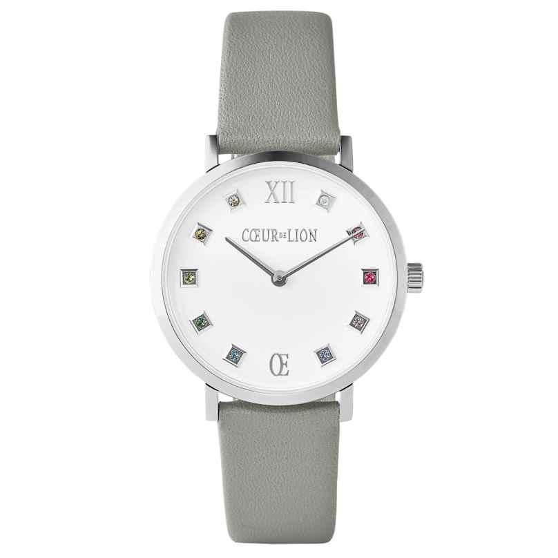 Coeur de Lion 7610/71-2414 Ladies' Watch Brilliant White Leather Light Grey 4251588318827