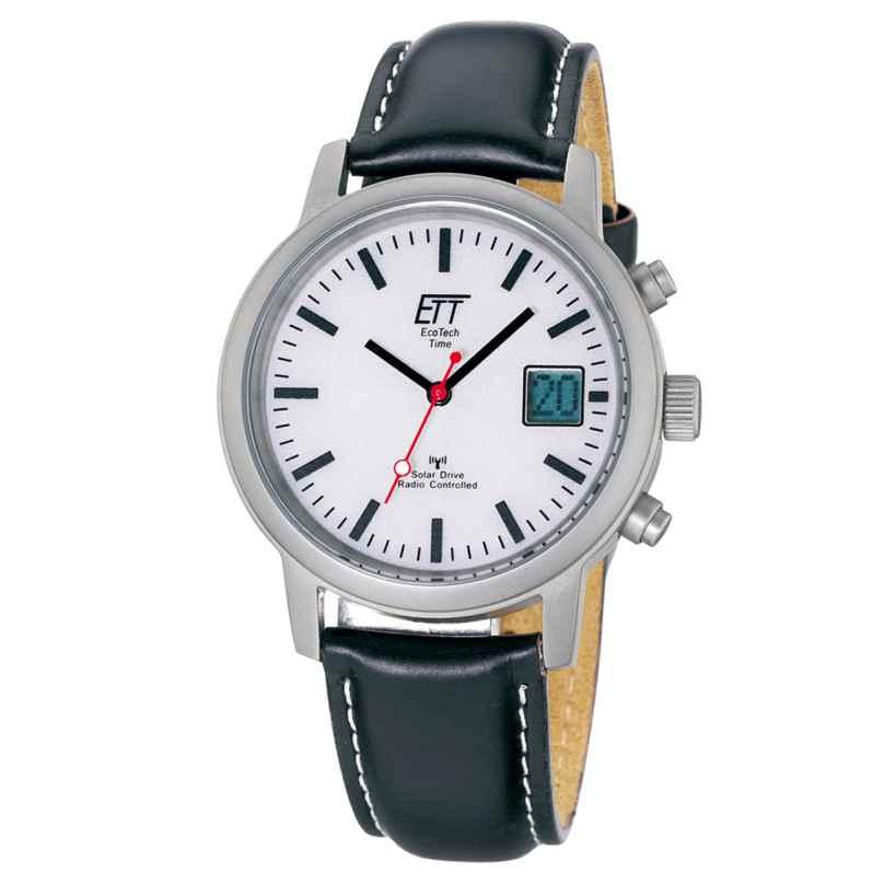 ETT Eco Tech Time EGS-11185-11L Solar Drive Funk Herren-Armbanduhr 4260091348320