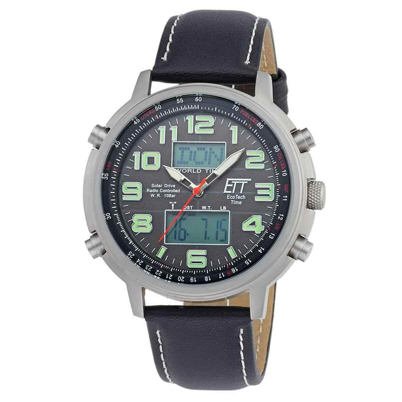 ETT Eco Tech Time EGS-11301-22L Solar Drive Funk Herrenuhr Hunter II 4260411152750