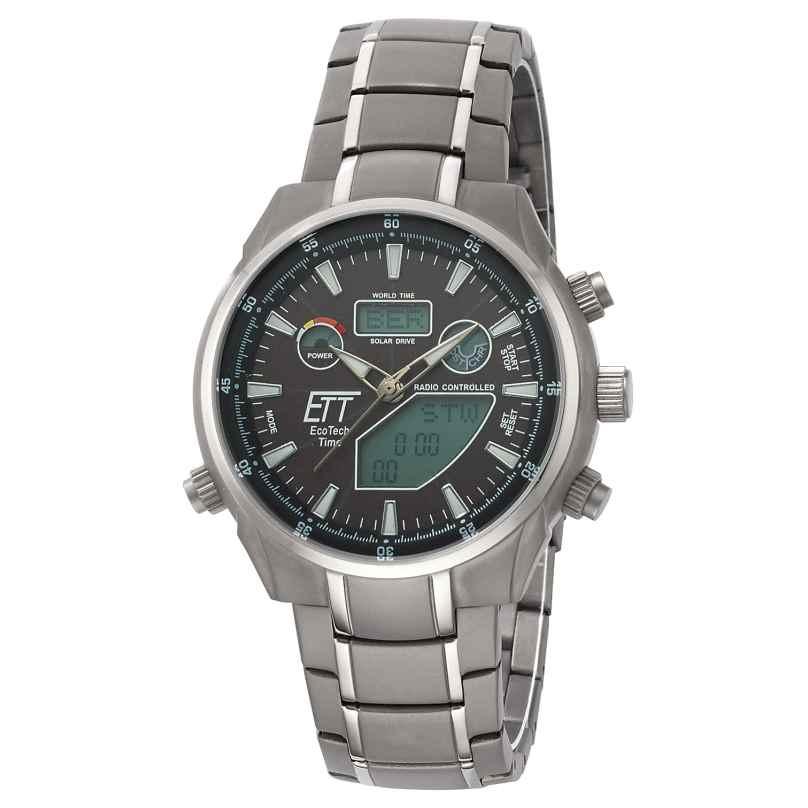 ETT Eco Tech Time EGT-11339-60M Solar Drive Herren-Funkuhr Aquanaut II 4260411159520