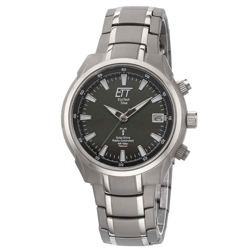 ETT Eco Tech Time EGT-11340-61M Solar Drive Funk Herren-Armbanduhr Aquanaut II 4260411159537