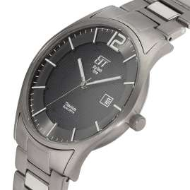 ETT Eco Tech Time EGT-12054-51M Solar Men's Watch Titanium