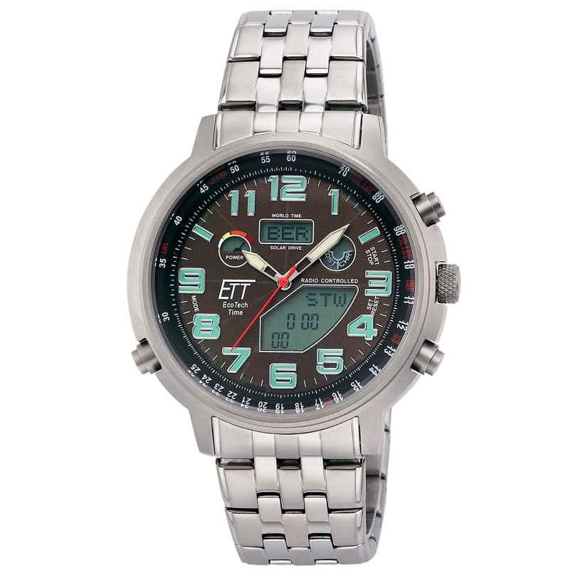 ETT Eco Tech Time EGS-11374-50M Radio-Controlled Solar Men's Watch Hunter II 4260503034452