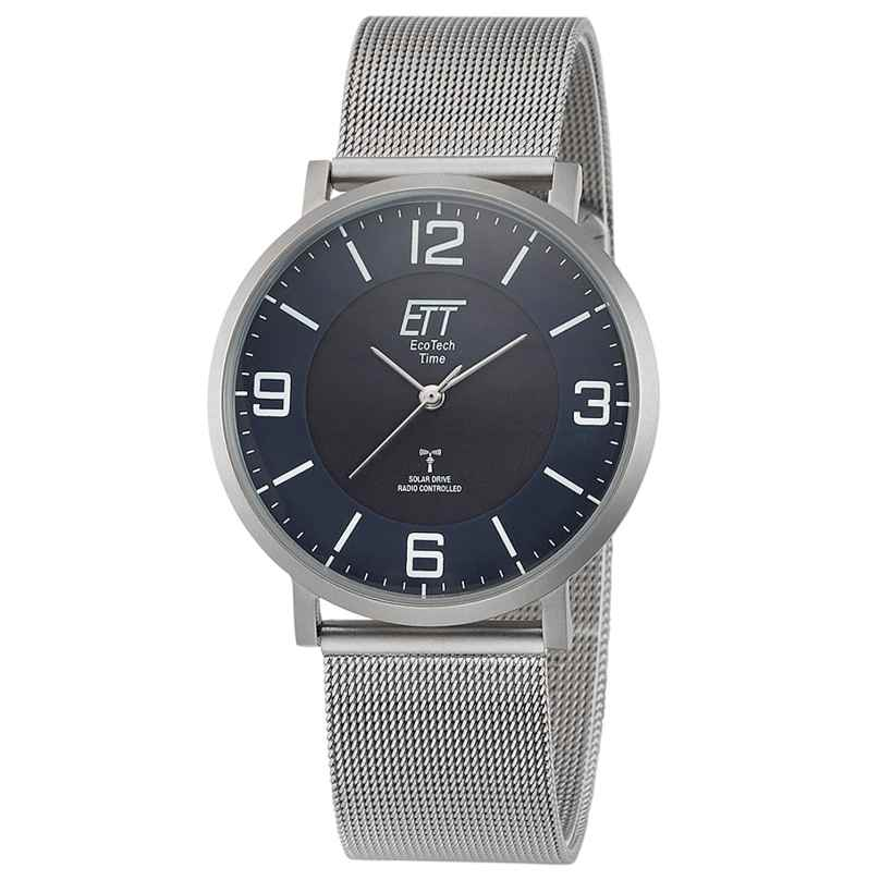 ETT Eco Tech Time EGS-11408-80M Radio-Controlled Solar Men's Watch Atacama Steel 4260503036883