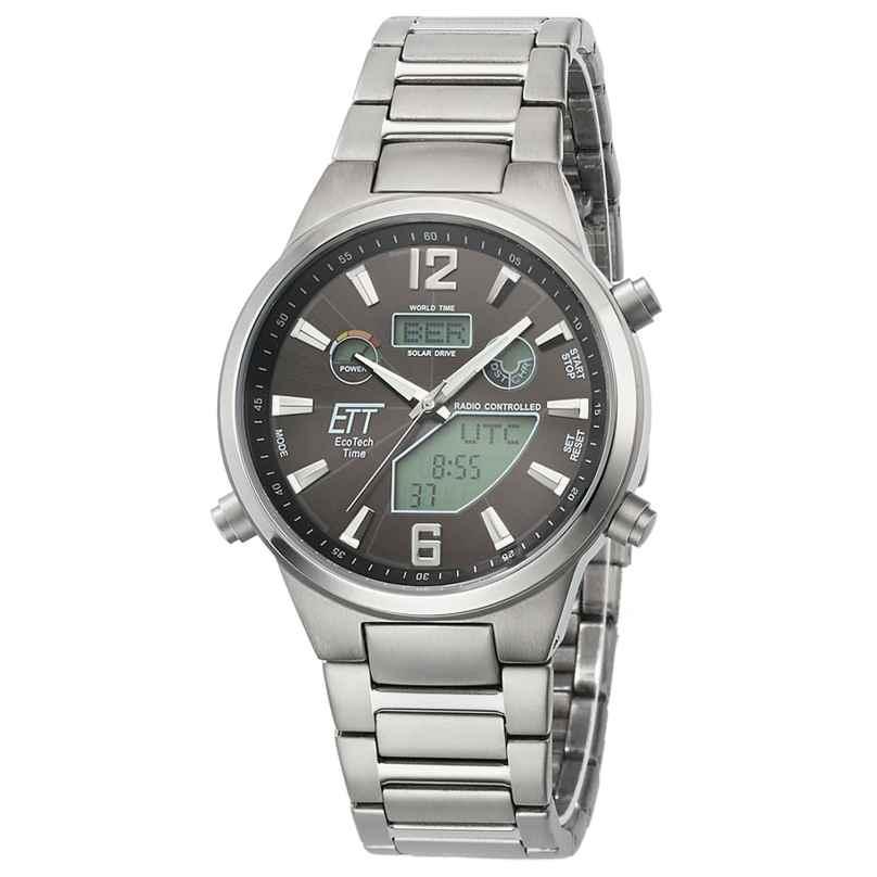 ETT Eco Tech Time EGT-11380-20M Men's Radio-Controlled Solar Watch Everest II Titanium 4260503034568