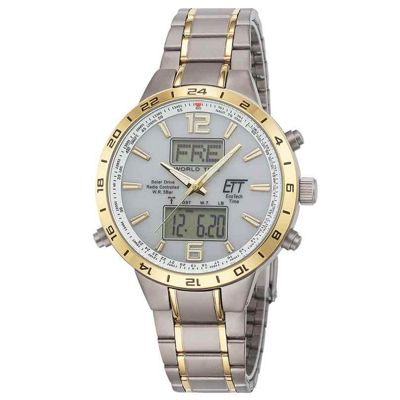 ETT Eco Tech Time EGT-11415-40M Men's Solar Radio-Controlled Watch Titanium 4260503037187