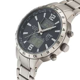 ETT Eco Tech Time EGT-11416-41M Solar Radio-Controlled Men's Watch Titanium