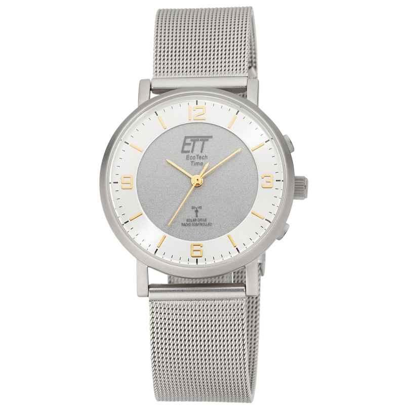 ETT Eco Tech Time ELS-11396-26M Funk-Solar Damenuhr Atacama mit Milanaiseband 4260503036296