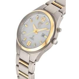 ETT Eco Tech Time ELT-11437-10M Radio-Controlled Solar Ladies' Watch Everest Titanium