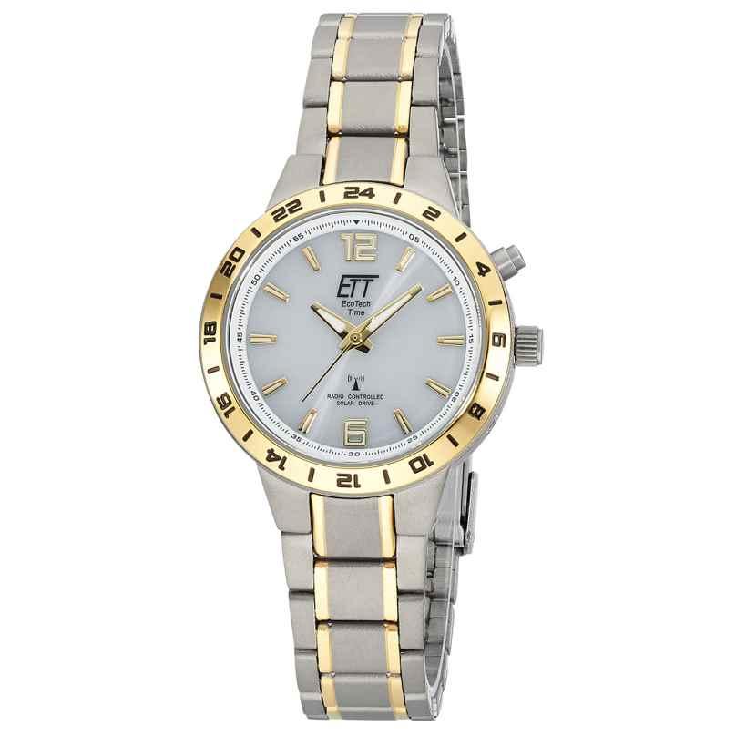 ETT Eco Tech Time ELT-11449-11M Damen-Armbanduhr Funk-Solar Basic Titan Bicolor 4260503038719