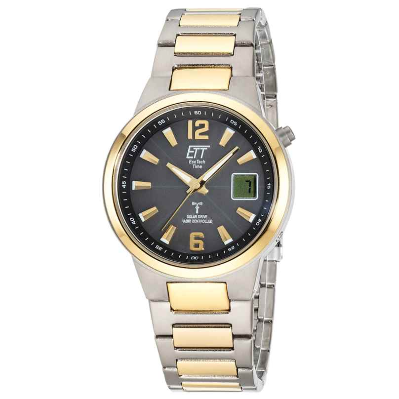 ETT Eco Tech Time EGT-11468-21 Radio-Controlled Solar Men's Watch Everest II Titanium 4260503038948