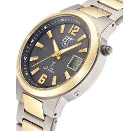 ETT Eco Tech Time EGT-11468-21 Radio-Controlled Solar Men's Watch Everest II Titanium