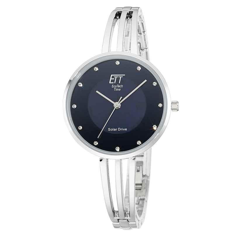 ETT Eco Tech Time ELA-12119-34M Solar Ladies' Watch Kalahari Silver/Blue 4260503038894