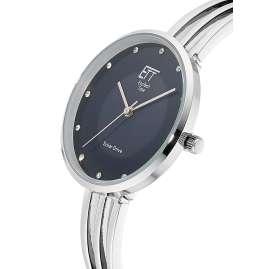 ETT Eco Tech Time ELA-12119-34M Solar Damen-Armbanduhr Kalahari Silber/BLau