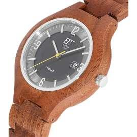 ETT Eco Tech Time EGW-12123-22SET Solar Men's Watch Osoyoos Wood
