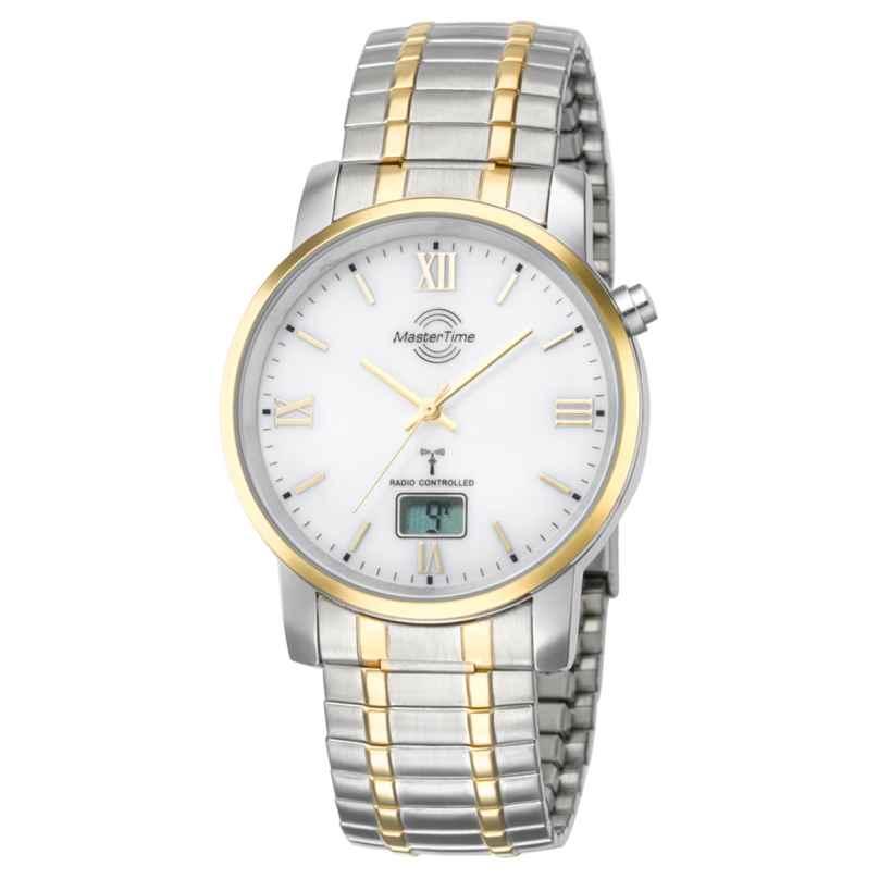 Master Time MTGA-10310-13M Herren-Funkuhr Bicolor mit Zugband 4260411150053