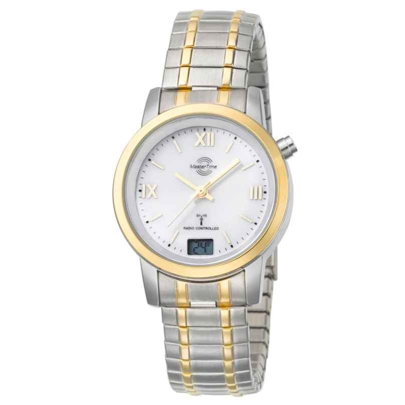 Master Time MTLA-10311-13M Damen-Funkuhr Bicolor mit Zugband 4260411150060