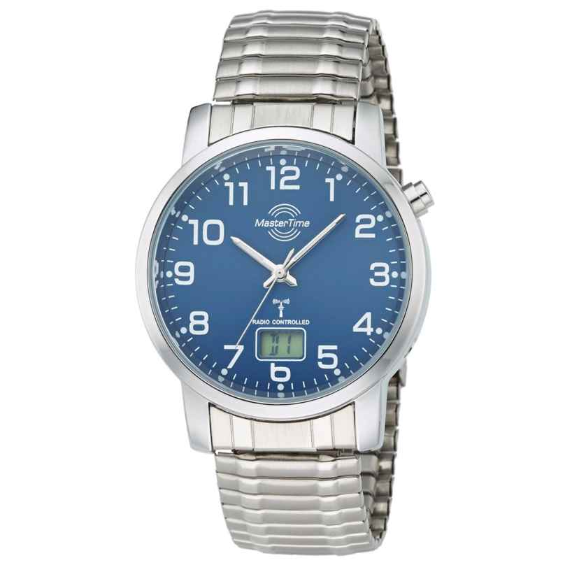 Master Time MTGA-10489-32M Radio-Controlled Mens Watch with Elastic Bracelet 4260411153320