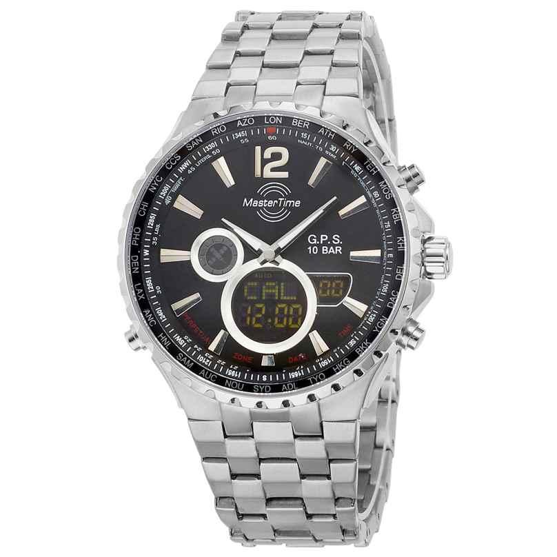 Master Time MTGT-10634-10M Herren-Funkuhr GPS World Timer Titan 4260503032212