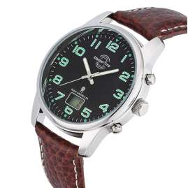 Master Time MTGA-10426-22L Radio-Controlled Men's Watch Basic Leather Brown