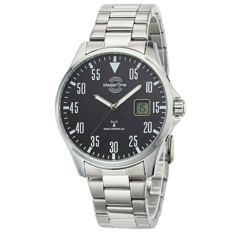 Master Time MTGA-10687-11M Funkuhr für Herren Basic mit Stahlband 4260503034551