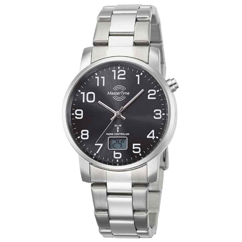 Master Time MTGA-10694-21M Herren-Funkuhr Basic mit Edelstahl-Armband 4260503036746