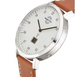 Master Time MTGS-10702-30L Herren-Funkuhr Advanced Architect Lederband Braun
