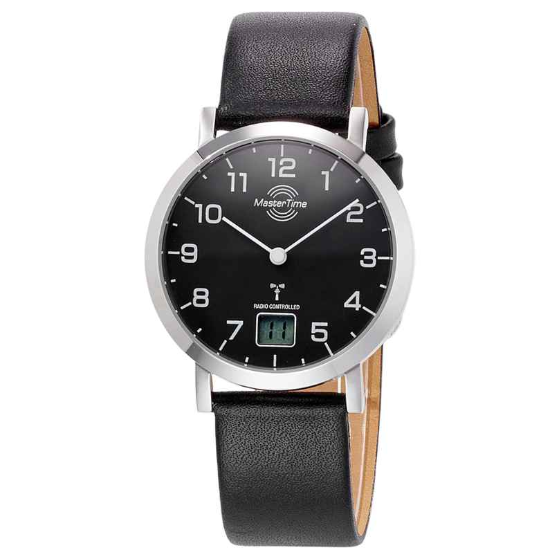 Master Time MTLS-10661-92L Damen Funk-Armbanduhr Advanced Lederband Schwarz 4260503033042