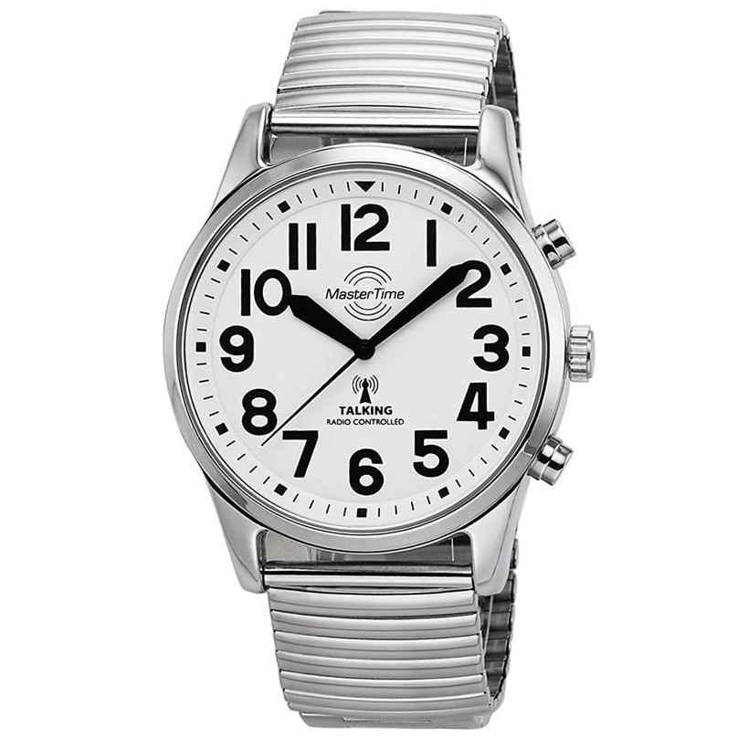 Master Time MTGA-10691-61M Sprechende Funk Herrenuhr mit Zugband 4260503034797