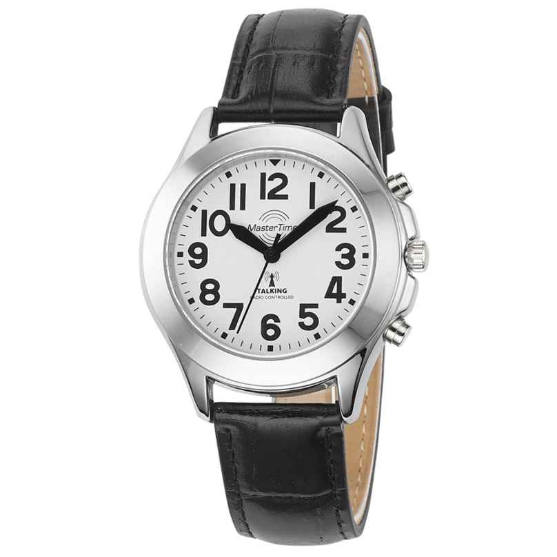Master Time MTLA-10705-60L Sprechende Funk Damenuhr mit Lederband 4260503037118