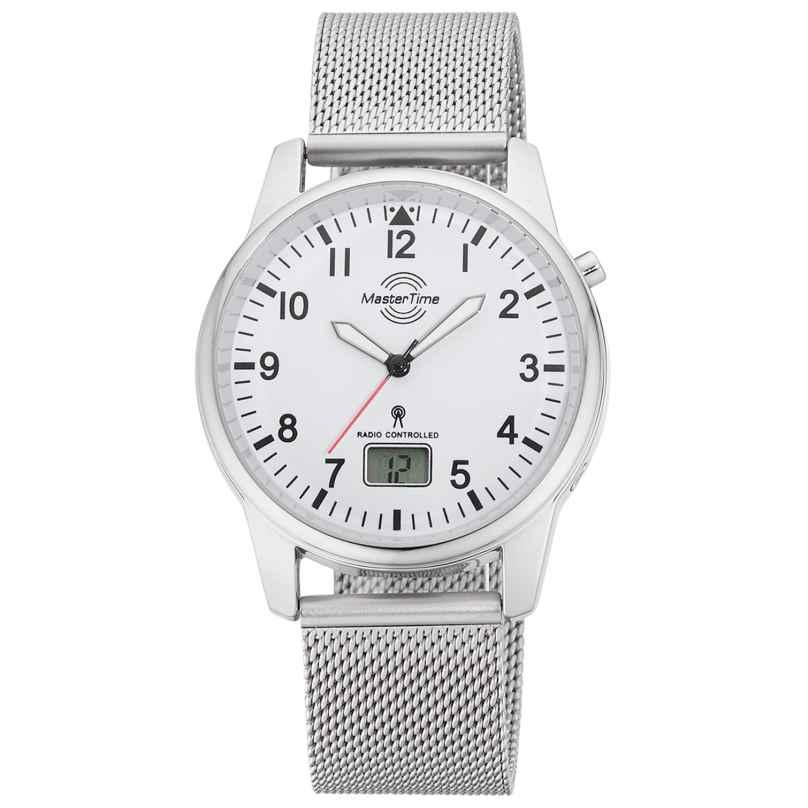 Master Time MTGA-10714-60M Herren-Funkuhr mit Milanaiseband 4260503038009