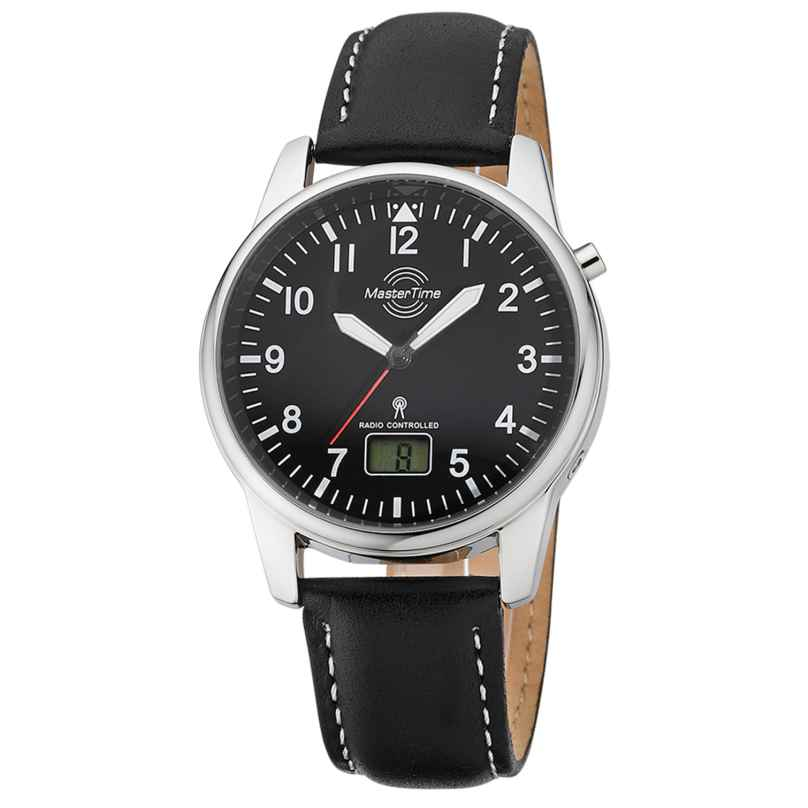 Master Time MTGA-10715-61L Men's Radio-Controlled Watch with Leather Strap 4260503038016