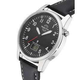 Master Time MTGA-10715-61L Men's Radio-Controlled Watch with Leather Strap