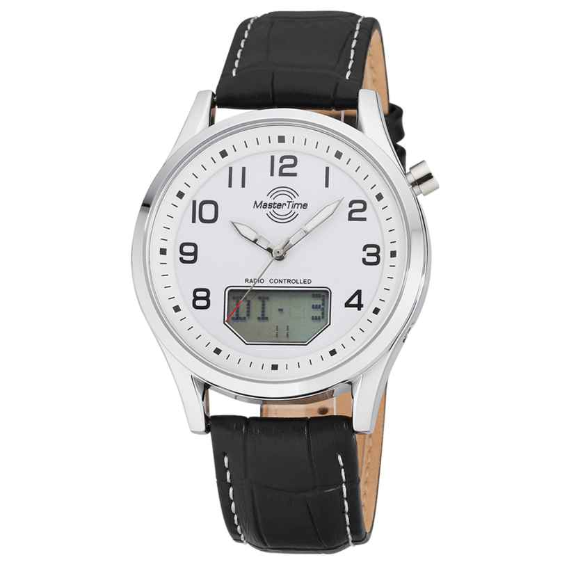 Master Time MTGA-10716-20L Herren-Funkuhr Specialist Big Date mit Lederband 4260503038023