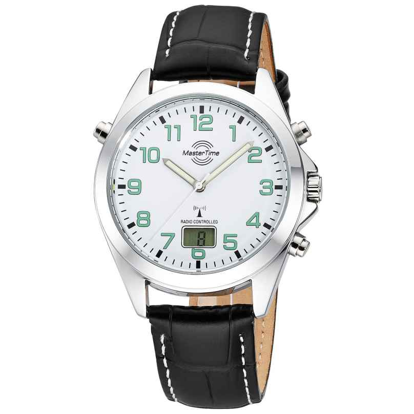 Master Time MTGA-10735-12L Men's Watch Radio-Controlled Specialist Leather Strap 4260503038542