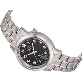 Master Time MTLT-10758-22M Damen-Funkuhr Titan Schwarz