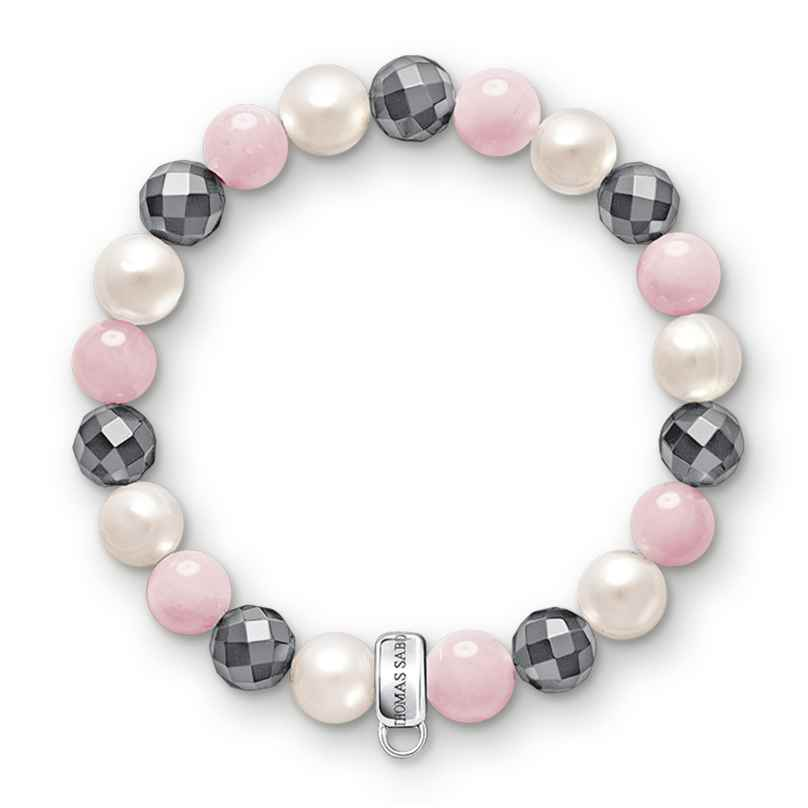 Thomas Sabo X0188-581-7 Armband für Charms Rosa, Weiß, Grau
