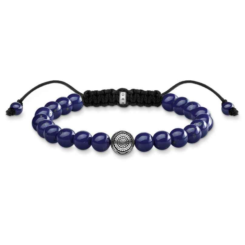 Thomas Sabo A1779-535-1-L22v Unisex-Armband Ethno Blau 4051245394818
