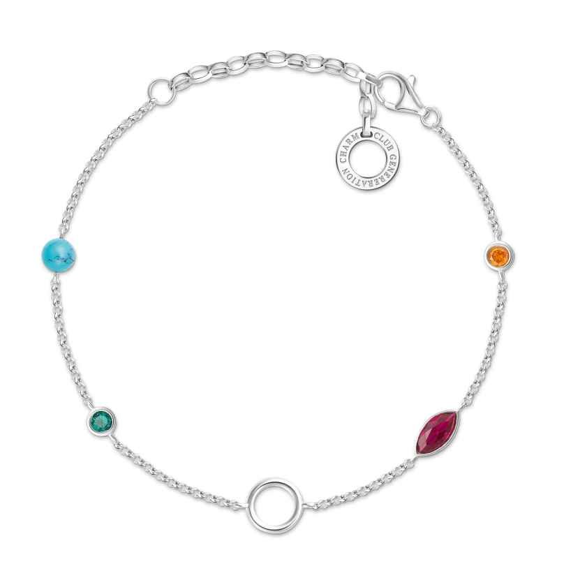 Thomas Sabo X0274-965-7-L19v Ladies´ Bracelet for Charms Colourful Stones 4051245433661