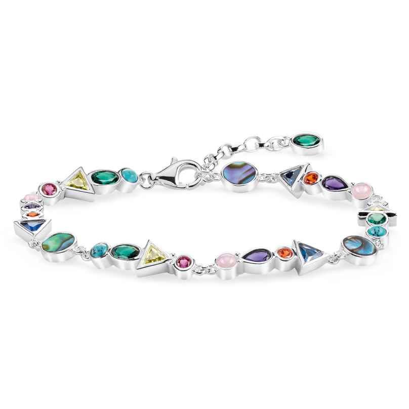 Thomas Sabo A1846-985-7-L19v Ladies´ Bracelet Colourful Stones 4051245430363
