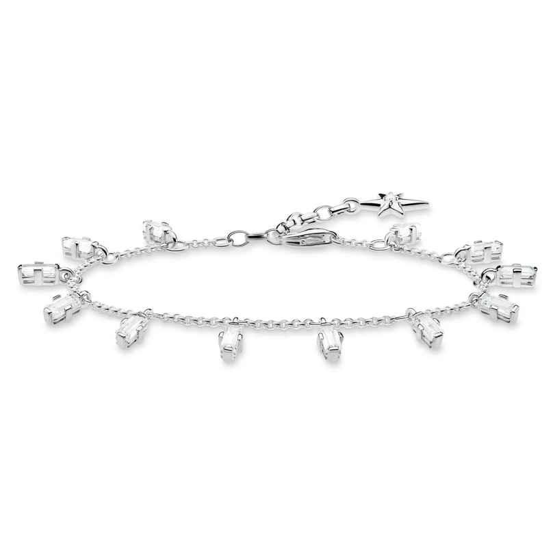 Thomas Sabo A1917-051-14-L19V Silber-Armband Eckige Steine mit Baguette-Schliff 4051245450811