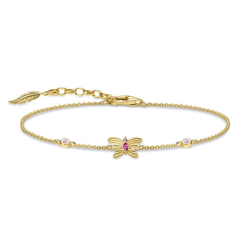 Thomas Sabo A1937-488-7-L19v Damen-Armband Schmetterling Silber vergoldet 4051245474114