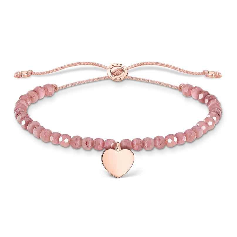 Thomas Sabo A1985-893-9-L20v Damen-Armband Pink mit Herz 4051245487473