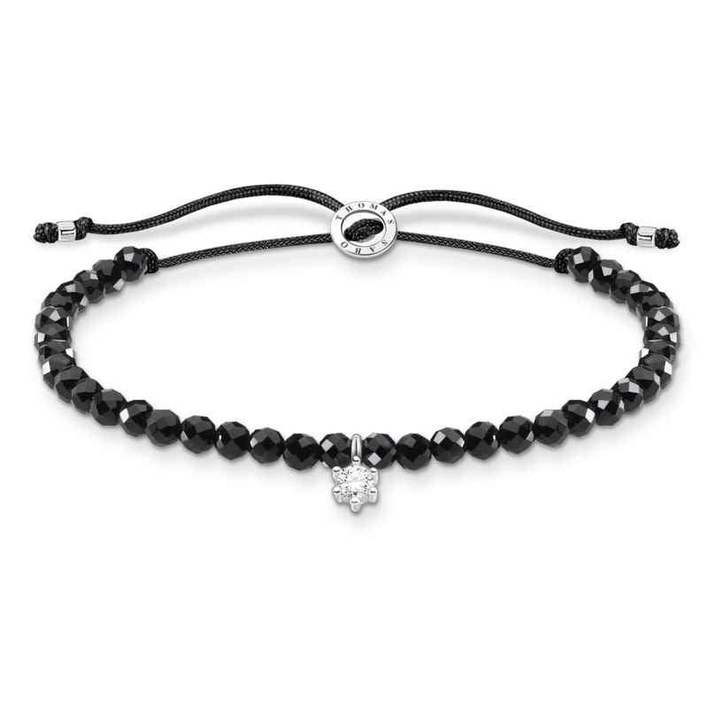 Thomas Sabo A1987-401-11-L20v Bracelet for Ladies Black with white Stone 4051245487510